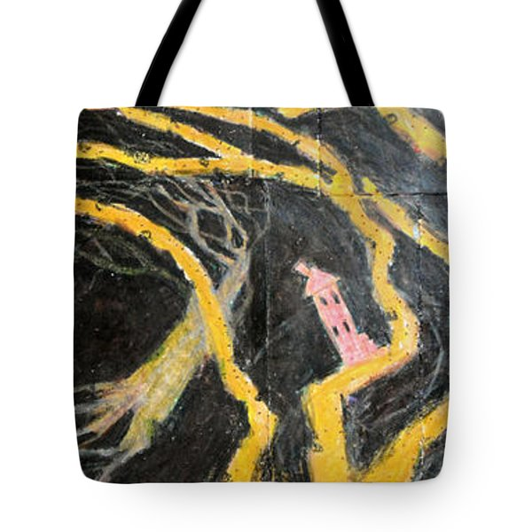Bride In Blood Shoes - Right Tote Bag by Nancy Mauerman