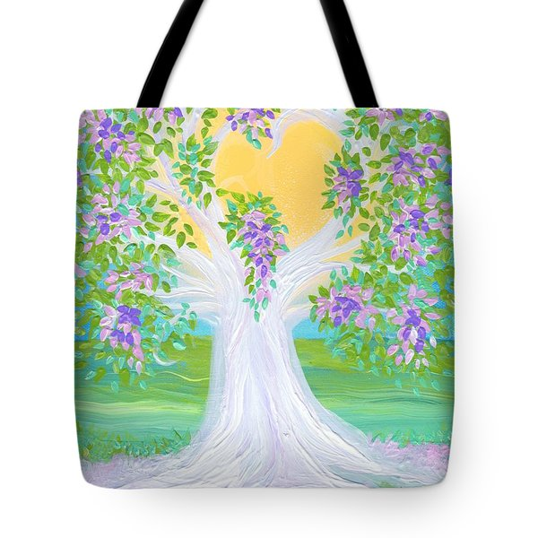 Bride's Tree Purple Tote Bag by First Star Art