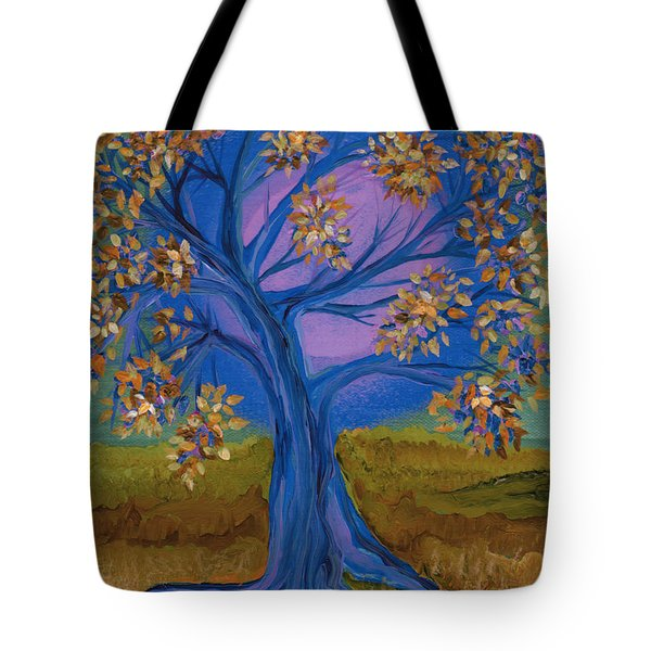 Bridesmaid Tree Blue Tote Bag by First Star Art
