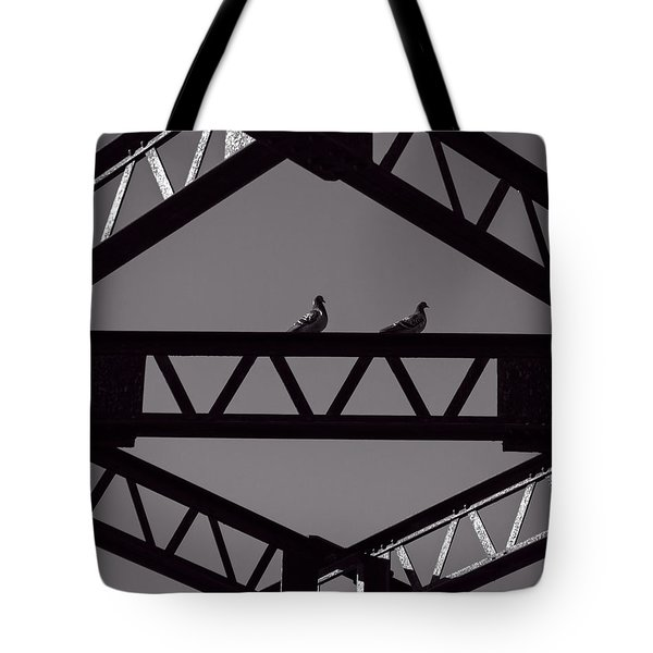 Bridge Abstract Tote Bag by Bob Orsillo