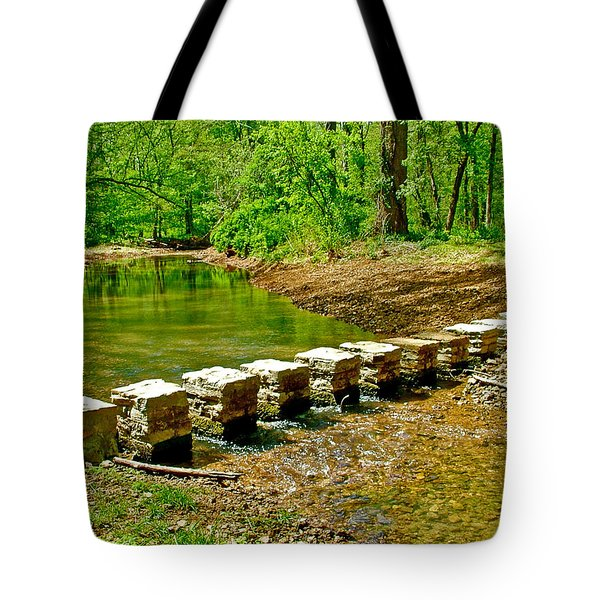Bridge Across Colbert Creek At Mile 330 Of Natchez Trace Parkway-alabama Tote Bag