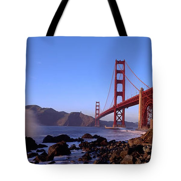Bridge Across The Bay, San Francisco Tote Bag by Panoramic Images