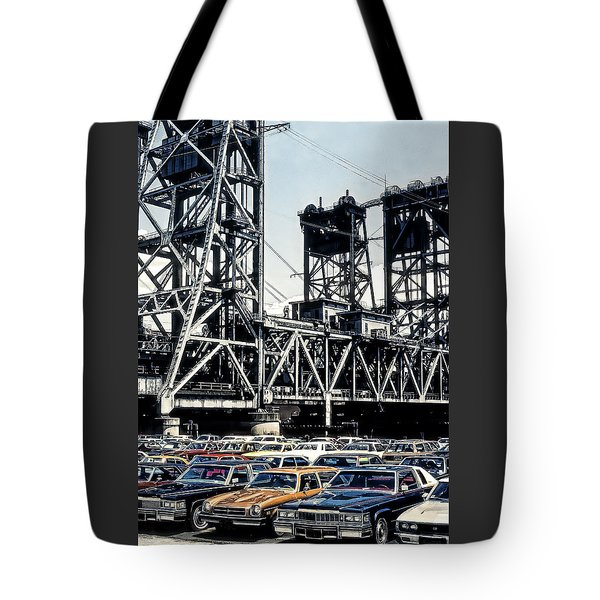 Tote Bag featuring the photograph Bridge Across The Passaic River by Kellice Swaggerty