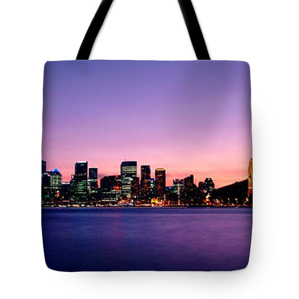 Bridge Across The Sea, Sydney Opera Tote Bag by Panoramic Images
