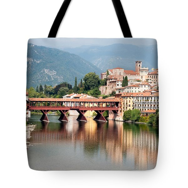 Bridge At Bassano Del Grappa Tote Bag by William Beuther