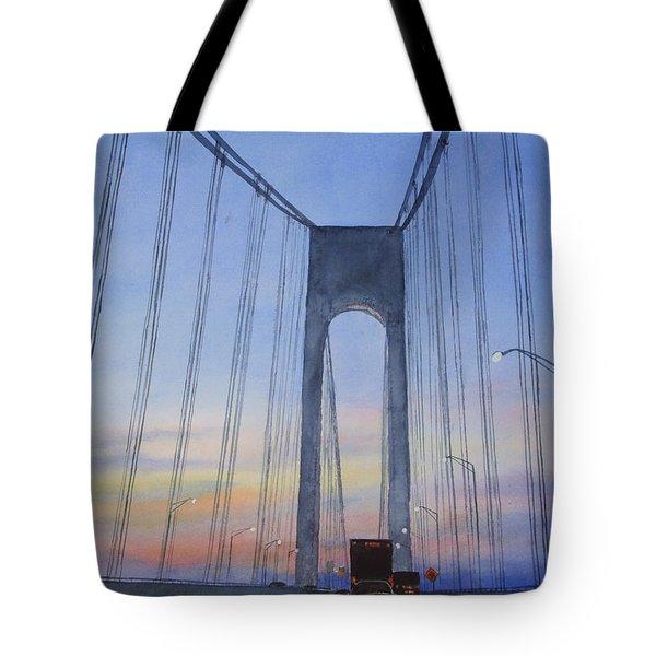 Bridge At Dawn Tote Bag