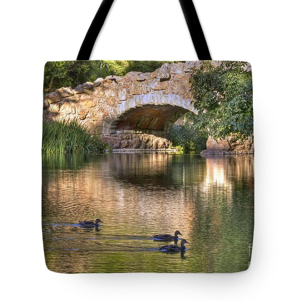 Tote Bag featuring the photograph Bridge At Stow Lake by Kate Brown