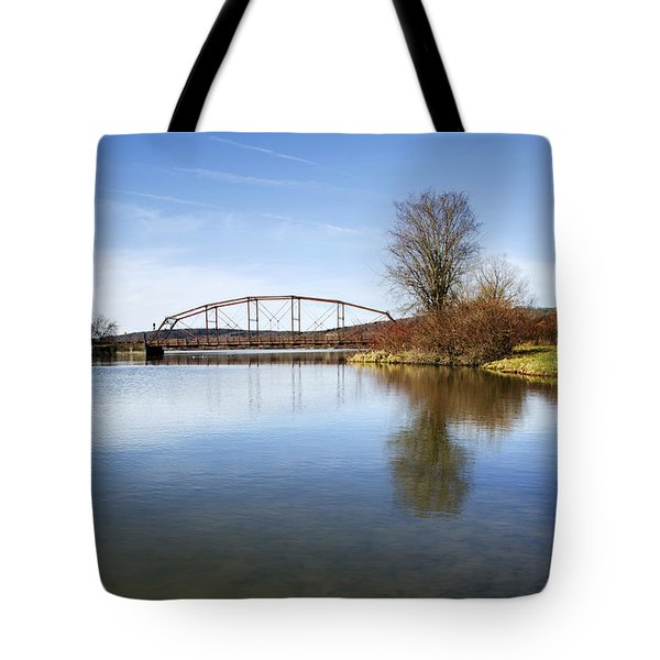 Tote Bag featuring the photograph Bridge At Upper Lisle by Christina Rollo