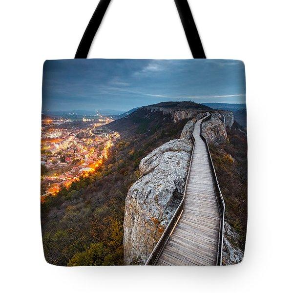 Bridge Between Epochs Tote Bag