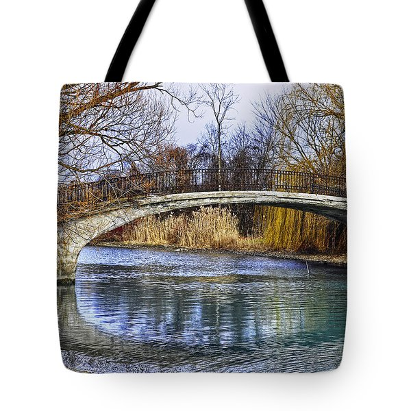 Bridge In The December Sun Tote Bag