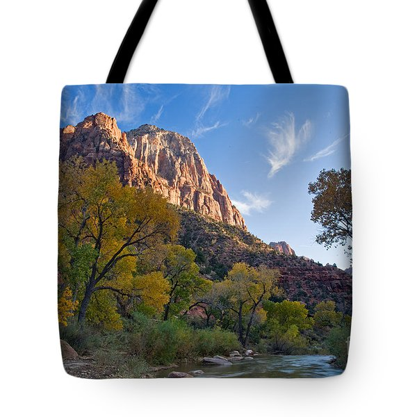 Bridge Mountain Tote Bag