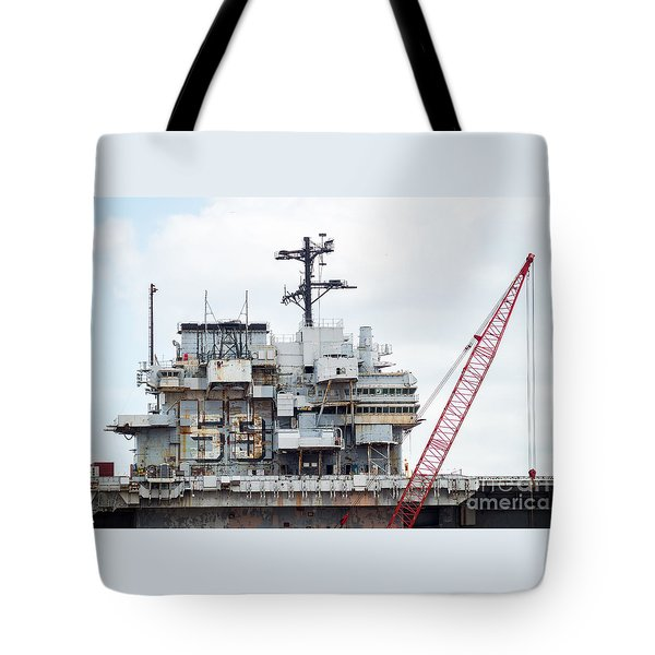 Uss Forrestal Bridge Tote Bag