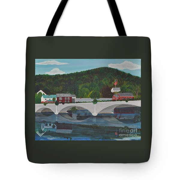 Bridge Of Flowers Tote Bag by Sally Rice