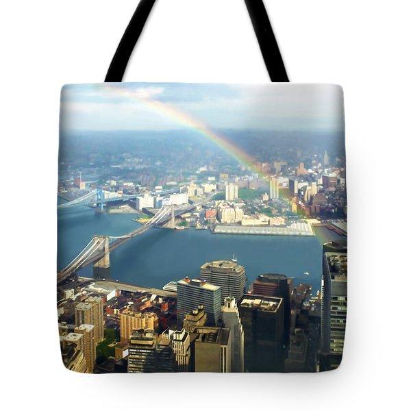 Bridge Of Light - In Loving Memory Tote Bag by Michelle Wiarda