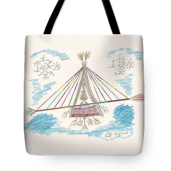 Bridge Of Light Tote Bag by Mark David Gerson