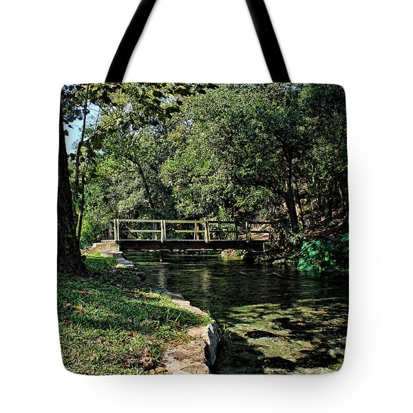 Bridge Of Serenity Tote Bag by Judy Vincent