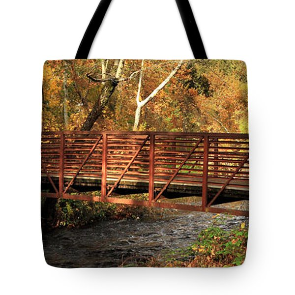 Bridge On Big Chico Creek Tote Bag