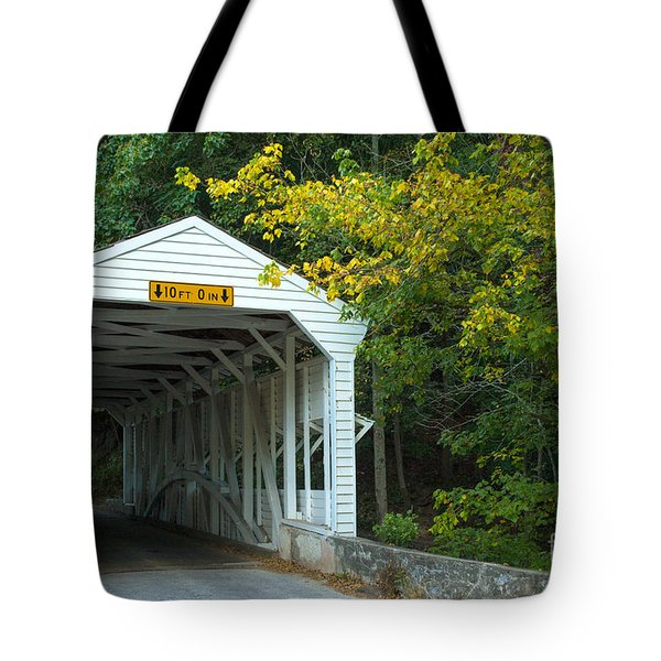 Tote Bag featuring the photograph Bridge On Route 252 In Valley Forge by Rima Biswas