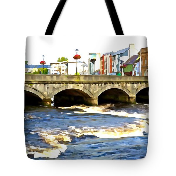 Tote Bag featuring the photograph Bridge On The Garavogue by Charlie and Norma Brock