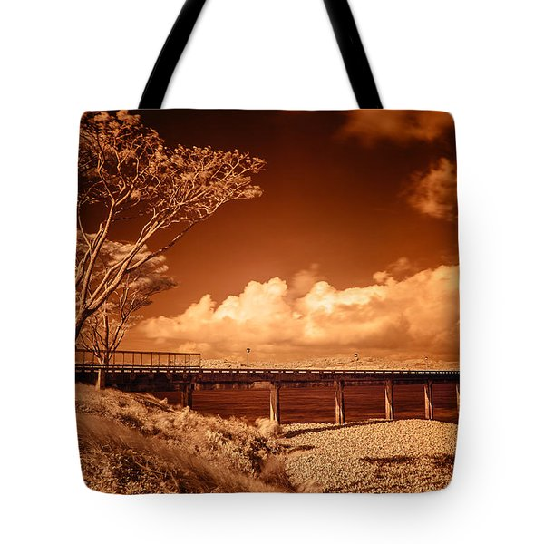 Bridge On The Lake Tote Bag