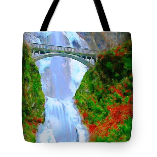 Bridge Over Beautiful Water Tote Bag