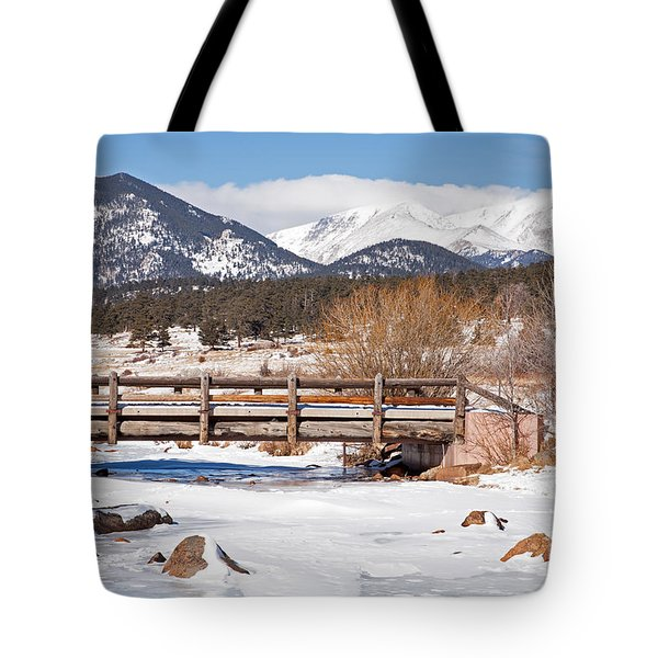 Bridge Over Big Thompson In River Moraine Park Rocky Mountain National Park Tote Bag