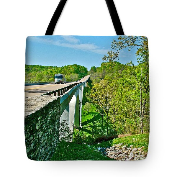 Bridge Over Birdsong Hollow At Mile 438 Of Natchez Trace Parkway-tennessee Tote Bag by Ruth Hager