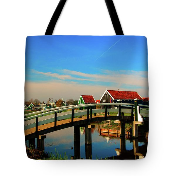 Bridge Over Calm Waters Tote Bag by Jonah  Anderson