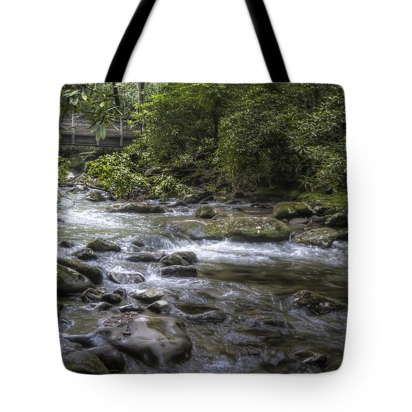 Bridge Over Running Water Tote Bag