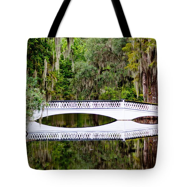 Tote Bag featuring the photograph Bridge Over Silent Waters by Jean Haynes