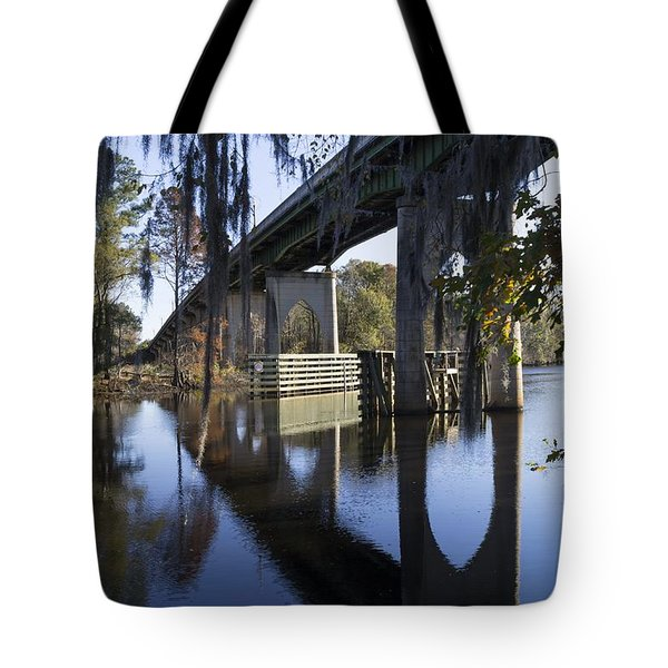 Bridge Over The Waccamaw On An Autumn Afternoon Tote Bag