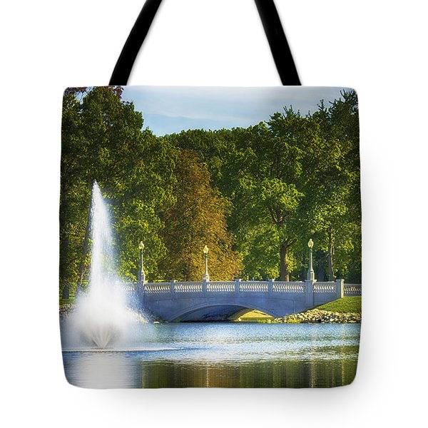 Bridge Over Troubled Waters Tote Bag by Skip Tribby
