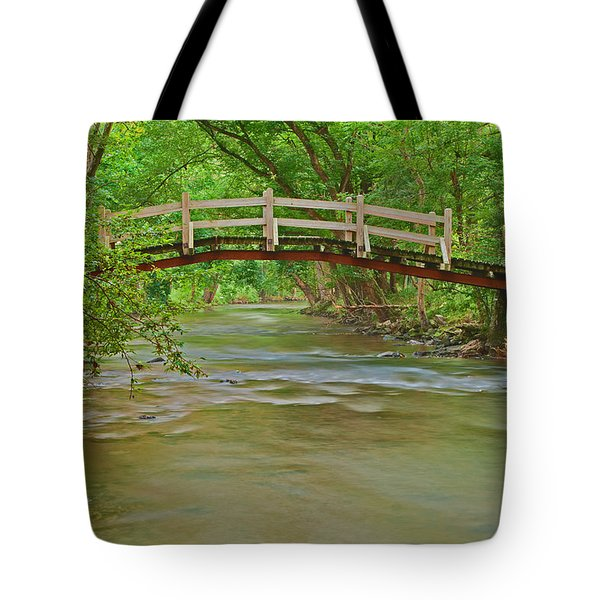 Bridge Over Valley Creek Tote Bag
