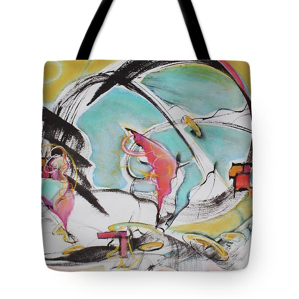 Bridge Over Water Tote Bag by Asha Carolyn Young