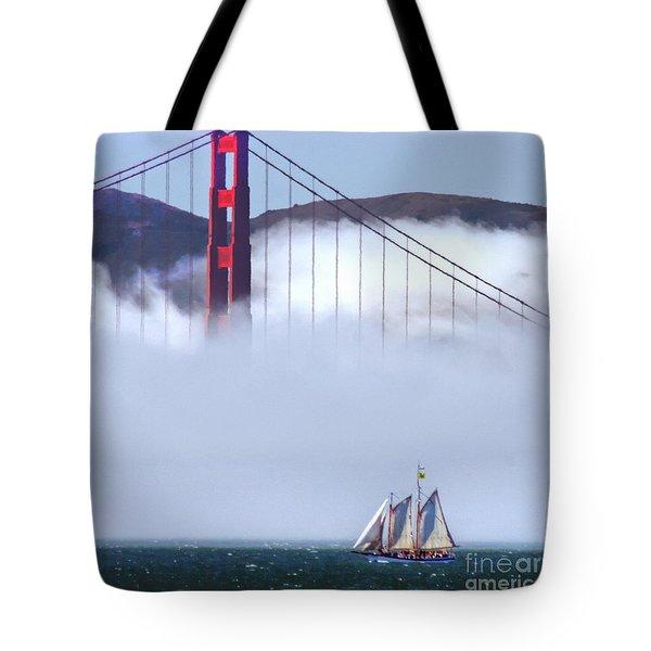 Bridge Sailing Tote Bag