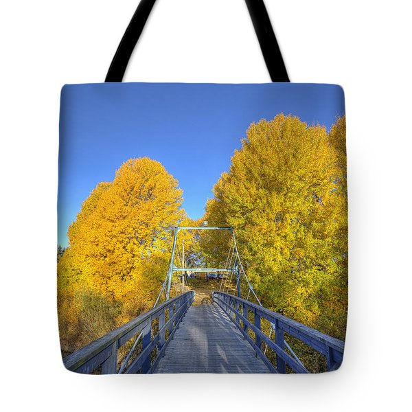 Bridge To Autumn Tote Bag