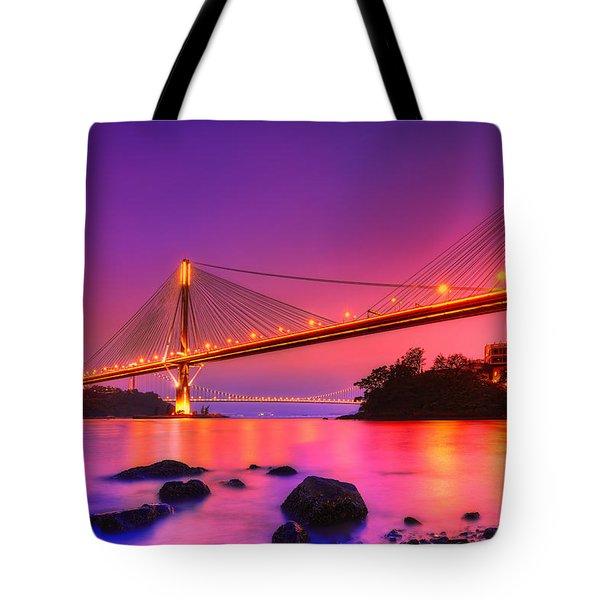Bridge To Dream Tote Bag by Midori Chan