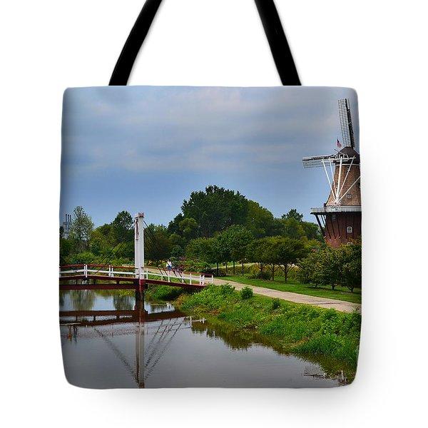 Bridge To Holland Windmill Tote Bag