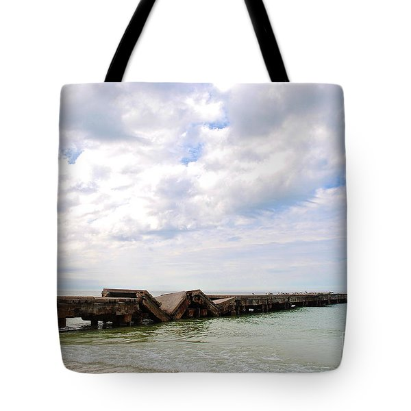 Bridge To Nowhere Tote Bag by Margie Amberge