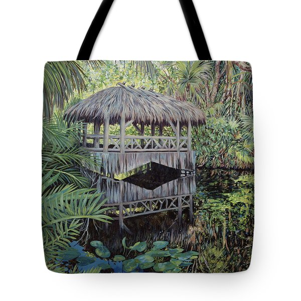 Bridge To Paradise Tote Bag by Danielle  Perry