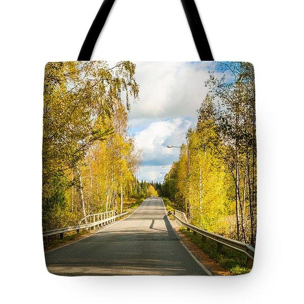 Bridge To Pretty Autumn Day Tote Bag