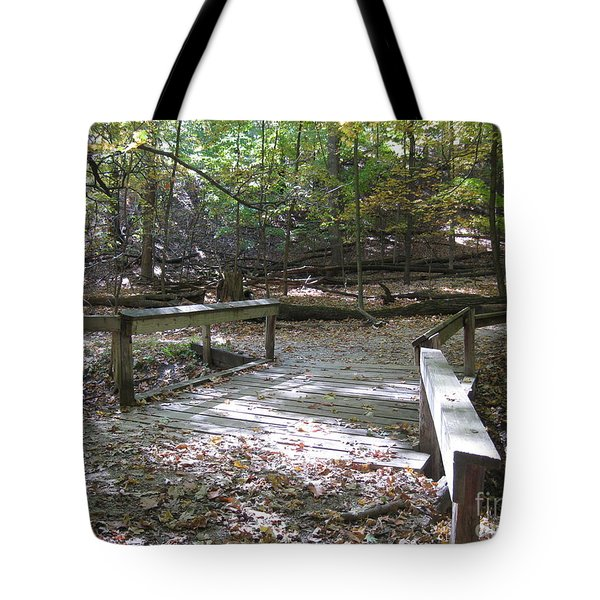 Bridge To The Forest Deep Tote Bag