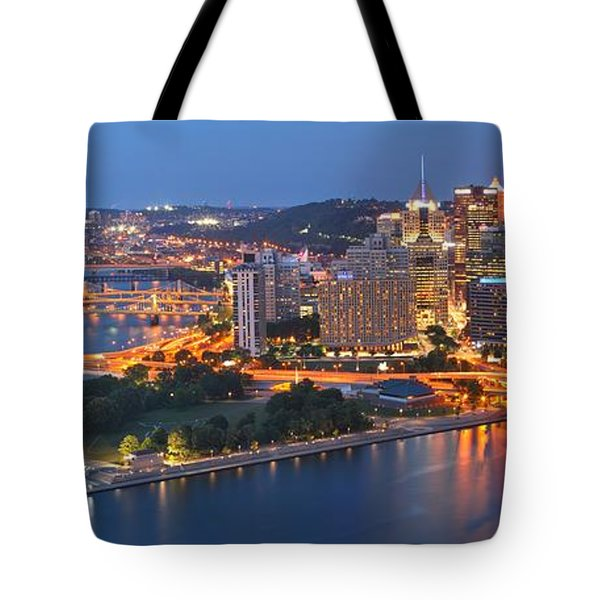 Bridge To The Pittsburgh Skyline Tote Bag