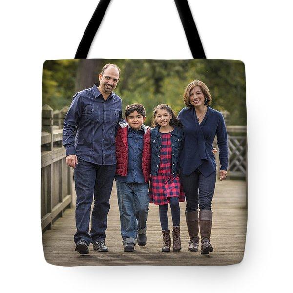 Bridge Walk - Group Hug Tote Bag