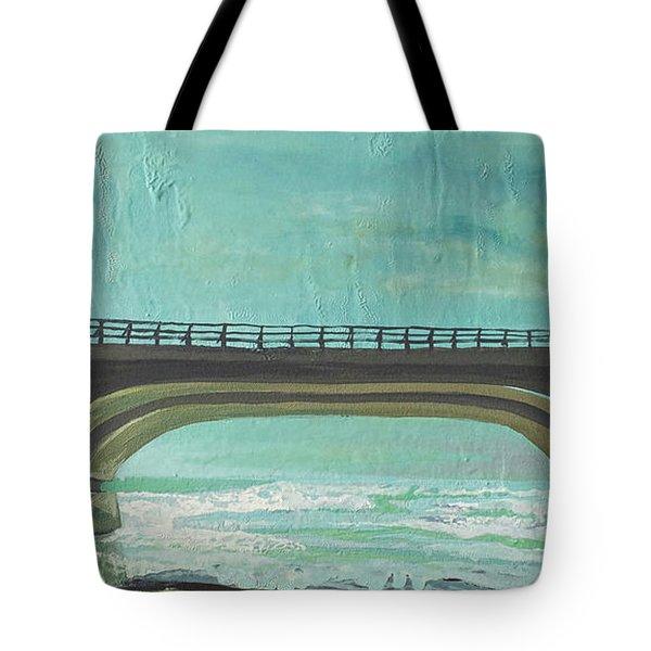 Bridge Where Waters Meet Tote Bag by Joseph Demaree