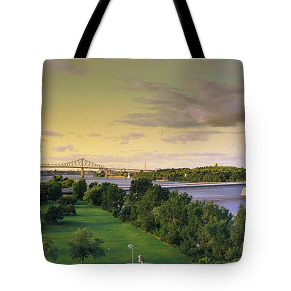 Bridges Across A River, Jacques Cartier Tote Bag