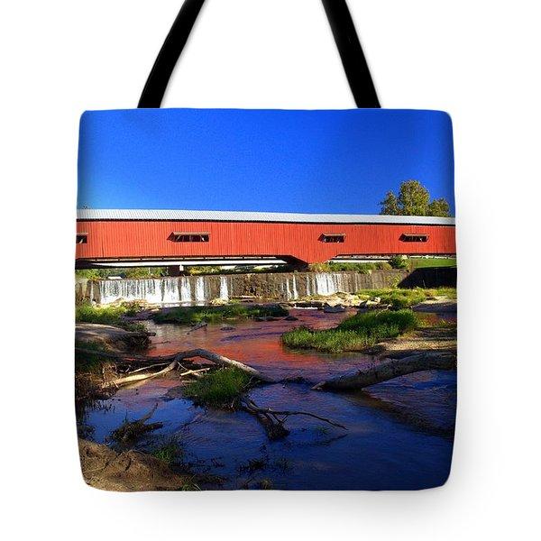 Bridgeton Covered Bridge 1 Tote Bag by Marty Koch