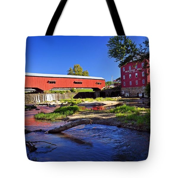 Bridgeton Covered Bridge 4 Tote Bag by Marty Koch