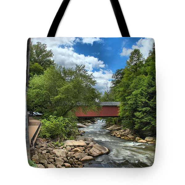 Bridging Slippery Rock Creek Tote Bag