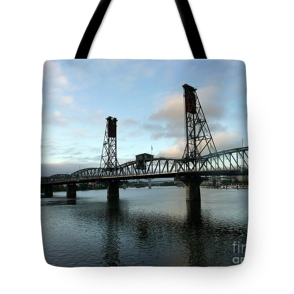 Bridging The River Tote Bag by Susan Garren
